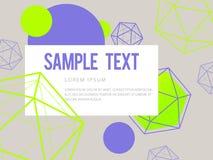 Abstrakt geometrisk färgrik vektorbakgrund Royaltyfria Bilder