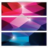 Abstrakt geometrisk färgrik bakgrund, modelldesignbeståndsdelar Royaltyfri Fotografi