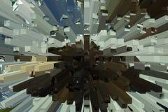 Abstrakt geometrisk fyrkantig cellmatris - digitalt konstverk stock illustrationer