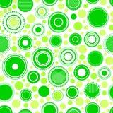 Abstrakt geometrisk gräsplan cirklar den sömlösa modellen, vektor Royaltyfri Fotografi