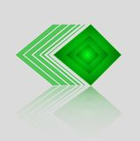 Abstrakt geometrisk grön triangelmodell Royaltyfri Bild