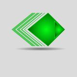 Abstrakt geometrisk grön triangelmodell Royaltyfri Fotografi