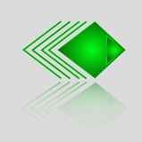 Abstrakt geometrisk grön triangelmodell Royaltyfria Bilder