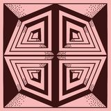Abstrakt geometrisk grafisk illustration på rosa bakgrund vektor illustrationer