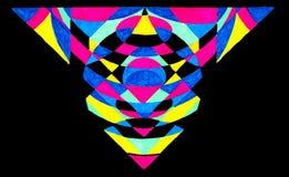Abstrakt geometrisk illustration Arkivfoton