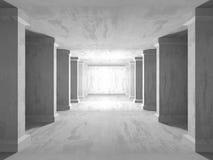 Abstrakt geometrisk konkret arkitekturbakgrund Royaltyfria Foton