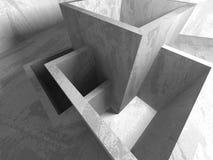 Abstrakt geometrisk konkret arkitekturbakgrund Royaltyfri Bild