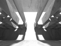 Abstrakt geometrisk konkret arkitekturbakgrund Arkivfoton