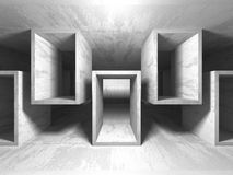 Abstrakt geometrisk konkret arkitekturbakgrund Royaltyfri Fotografi