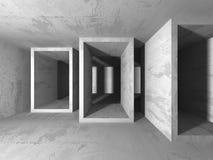 Abstrakt geometrisk konkret arkitekturbakgrund Arkivfoto