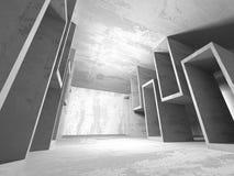 Abstrakt geometrisk konkret arkitekturbakgrund Fotografering för Bildbyråer