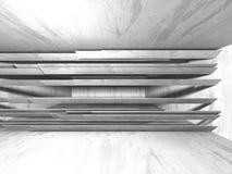 Abstrakt geometrisk konkret arkitekturbakgrund Arkivbild