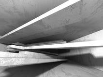 Abstrakt geometrisk konkret arkitekturbakgrund Arkivbilder