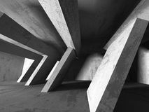 Abstrakt geometrisk konkret arkitekturbakgrund royaltyfri illustrationer