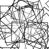 Abstrakt geometrisk konstbild Monokrom som är svartvit stock illustrationer
