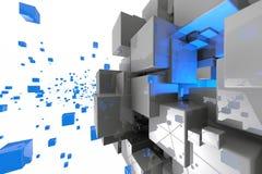 Abstrakt geometrisk kubbakgrund 3d framför Royaltyfri Illustrationer