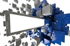 Abstrakt geometrisk kubbakgrund 3d framför Stock Illustrationer