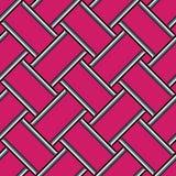 Abstrakt geometrisk modell, färgrik rosa sömlös bakgrund Arkivbilder