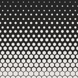 abstrakt geometrisk modell Modell för tryck för Hipstermodedesign sexhörnig Vita honungskakor på en svart bakgrund vektor vektor illustrationer