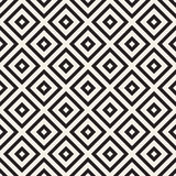 Abstrakt geometrisk modell med band, linjer Sömlös vektorackground Svartvit gallertextur Royaltyfri Foto