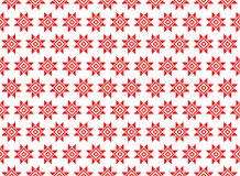 Abstrakt geometrisk modell med geometriska diagram, blomma En sömlös vektorbakgrund röd textur Royaltyfri Foto