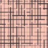 Abstrakt geometrisk modell med mörk - gråa rundade linjer på ljust - rosa bakgrund vektor vektor illustrationer
