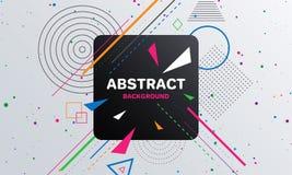 Abstrakt geometrisk modellbakgrund med fyrkanten royaltyfri illustrationer