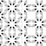 Abstrakt geometrisk monokrom bakgrund för blommamodell Arkivbilder