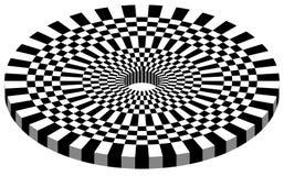 Abstrakt geometrisk monokrom rutig cirkeldesignbeståndsdel Royaltyfri Bild