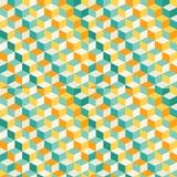 Abstrakt geometrisk mosaikmodell Arkivfoto