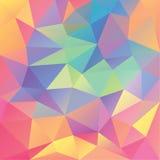 Abstrakt geometrisk polygonal bakgrund Arkivfoto