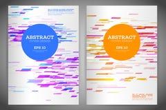 Abstrakt geometrisk räkningsreklamblad Arkivbild