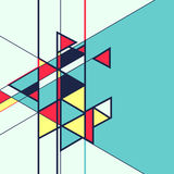 Abstrakt geometrisk retro färgglad bakgrund Royaltyfri Foto