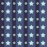 Abstrakt geometrisk retro sömlös polkastjärnabakgrund också vektor för coreldrawillustration stock illustrationer