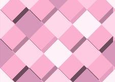 Abstrakt geometrisk rosa bakgrund med fyrkanter vektor stock illustrationer