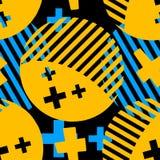 Abstrakt geometrisk sömlös cirkelmodell vektor illustrationer