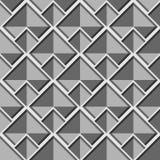Abstrakt geometrisk sömlös grå vektormodell med fyrkanter Royaltyfria Bilder