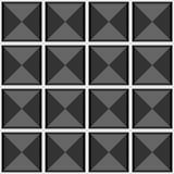Abstrakt geometrisk sömlös grå vektormodell med fyrkanter Fotografering för Bildbyråer