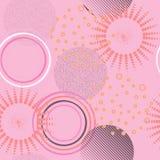 Abstrakt geometrisk sömlös modell med cirklar Designlegitimationshandlingar, Royaltyfri Bild