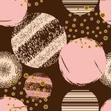 Abstrakt geometrisk sömlös modell med cirklar Designlegitimationshandlingar, Royaltyfria Foton