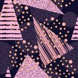 Abstrakt geometrisk sömlös modell med cirklar och trianglar Arkivfoto