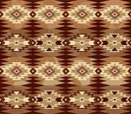 Abstrakt geometrisk sömlös modell med den aztec prydnaden ethnic royaltyfri illustrationer
