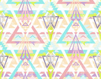 Abstrakt geometrisk seamless aztec modell. stock illustrationer