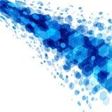 Abstrakt geometrisk sexhörningsblåttbakgrund Royaltyfri Bild