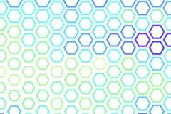 Abstrakt geometrisk sexhörningsmodell, färgrikt & konstnärligt för grafisk design, katalog, textil eller texturprinting & bakgrun royaltyfri illustrationer