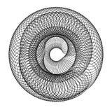 Abstrakt geometrisk spiral beståndsdel Royaltyfri Bild