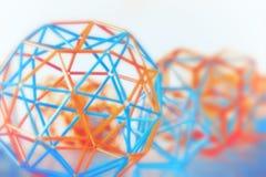 Abstrakt geometrisk suddig bakgrund Royaltyfri Foto