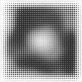 Abstrakt geometrisk svartvit tryckhalvton för grafisk design Royaltyfri Bild