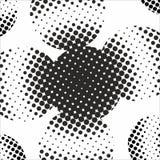 Abstrakt geometrisk svartvit tryckhalvton för grafisk design Arkivbilder