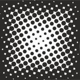 Abstrakt geometrisk svartvit tryckhalvton för grafisk design Royaltyfria Bilder